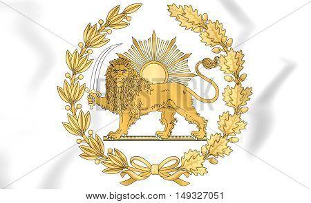 Emblem of Persia. 3D Illustration. Close Up.