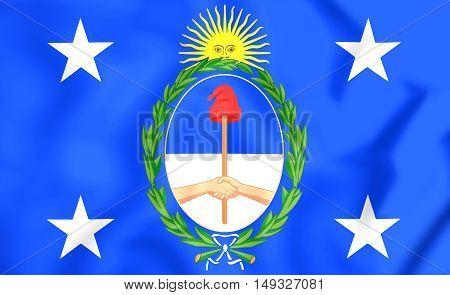 3D Presidential Standard Of Argentina. 3D Illustration.
