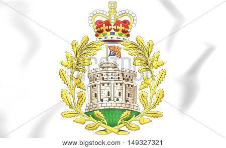 House Of Windsor Coat Of Arms. 3D Illustration.