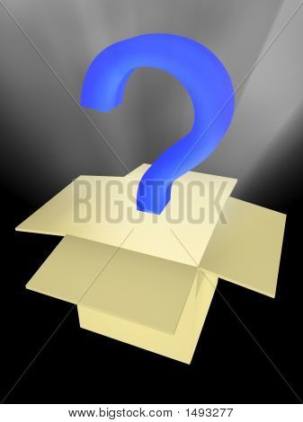 Unknown Surprise In A Box. Abstract 3D Image