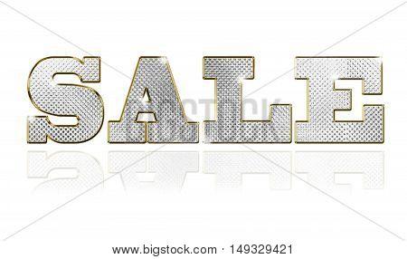 Sale gold text vector illustration set sign