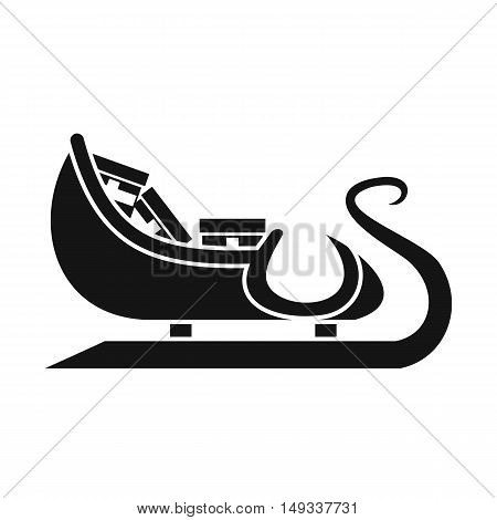 Christmas sleigh of santa claus icon in simple style on a white background vector illustration