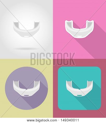boxing cap flat icons vector illustration isolated on background