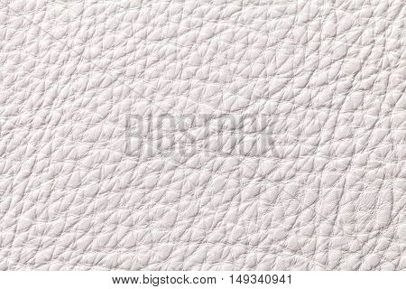 White pearl leather texture background with pattern closeup.