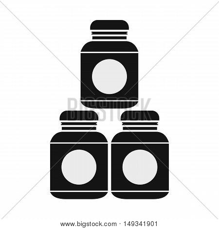 Sport nutrition containers icon in simple style on a white background vector illustration