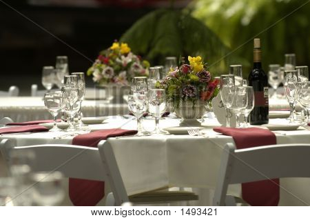 Wedding Receptiion Dinner Table