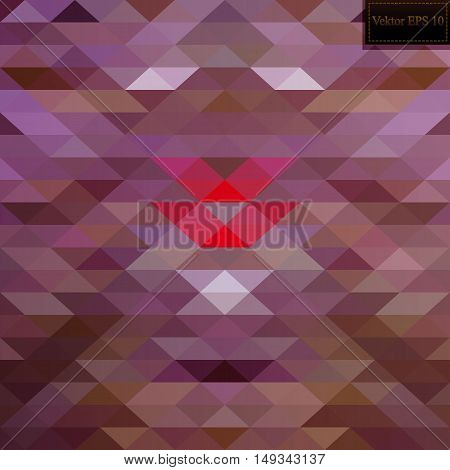 Multicolor pink, yellow, orange geometric rumpled triangular low poly style gradient illustration graphic background. Vector polygonal design for your business.