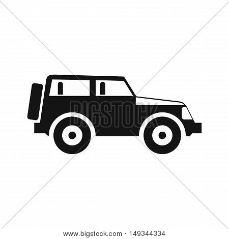 Jeep icon in simple style on a white background vector illustration