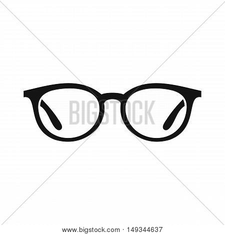 Glasses icon in simple style on a white background vector illustration