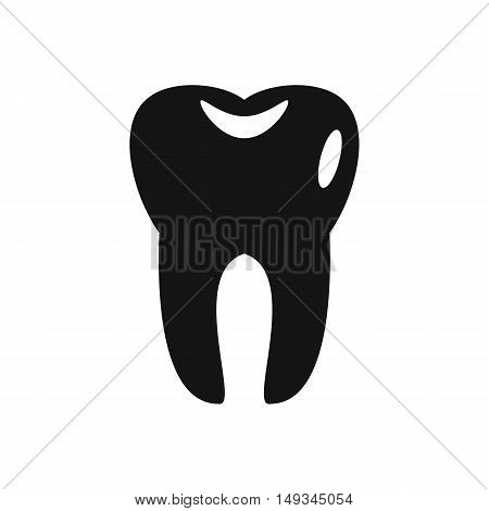 Tooth icon in simple style on a white background vector illustration