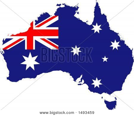 Australien Flagge Karte