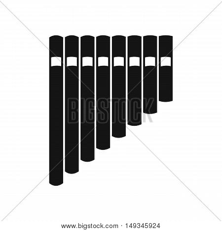 Pan flute icon in simple style on a white background vector illustration