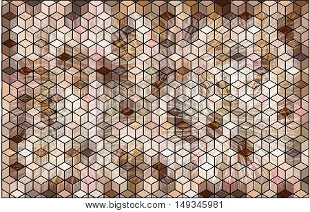 Abstract background with cubes. Abstract multicolored background with geometrical figures of various shapes.
