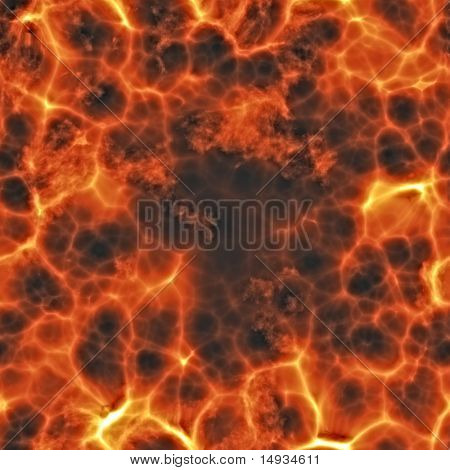 Fiery explosion and flames texture, rendered illustration