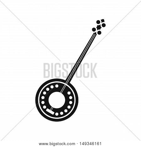 Banjo icon in simple style on a white background vector illustration