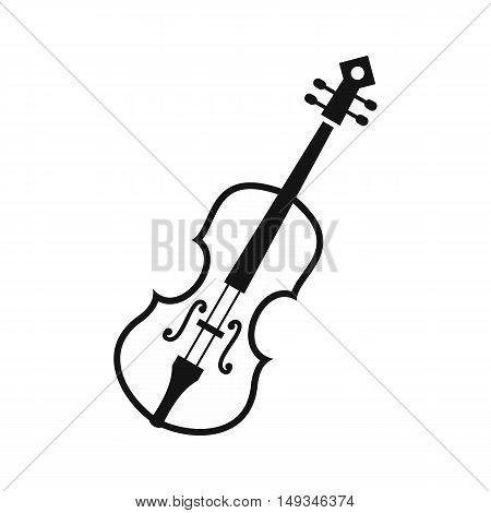 Cello icon in simple style on a white background vector illustration