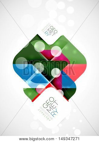 Modern square abstract background, vector color banner