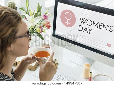 Women's Day Symbol Webpage Concept