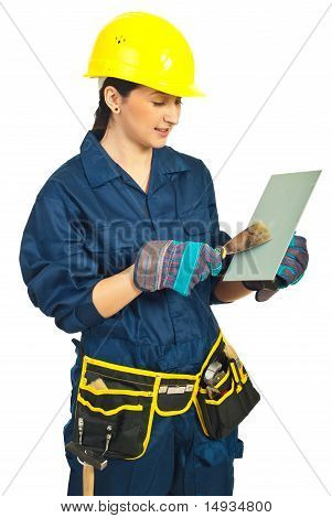 Manual Worker Woman Working