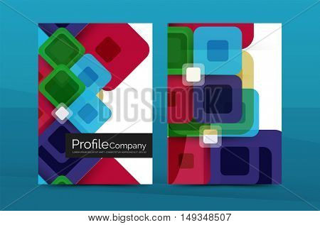 Geometric abstract background, business company annual report template. Flyer brochure