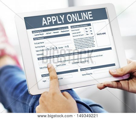 Apply Online Application Form Recruitment Concept