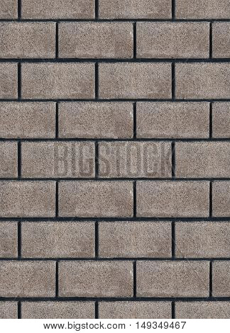Seamless empty space background of textured gray brick wall