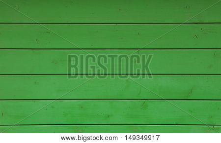 Green vintage grunge stained rustic aged painted wooden panel with horizontal planks