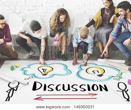 Discussion Planning Brainstorming Diversity Concept