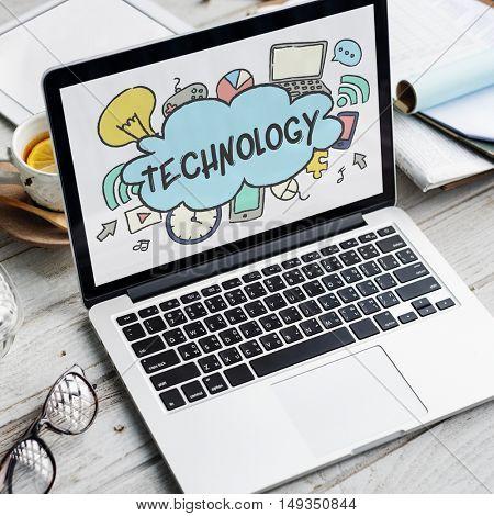 Technology Entertainment Social Network Graphic Concept