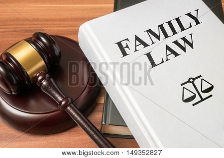 Family Law Book And Gavel. Consumer Protection Book And Gavel. L