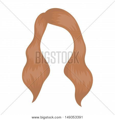 Woman's hairstyle icon in cartoon style isolated on white background. Beard symbol vector illustration.