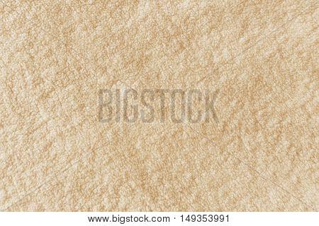 Close up texture of warm woolen blanket top view