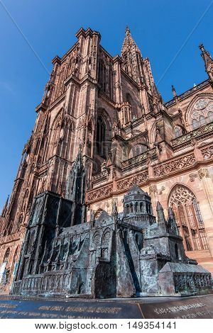 Notre Dame Of Strasbourg With Miniature