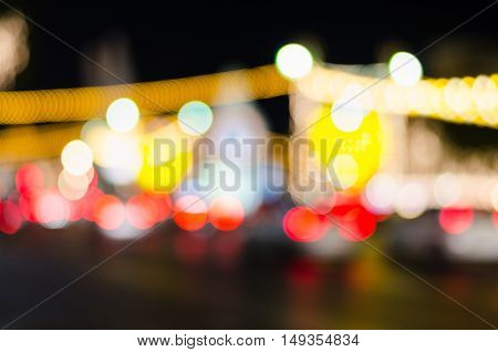 City Traffic Lights in the background With Blurred Lights