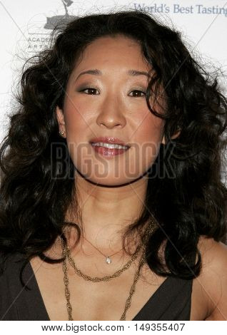 Sandra Oh at the 58th Annual Primetime Emmy Awards Performer Nominee Reception held at the Pacific Design Center in West Hollywood, USA on August 25, 2006.