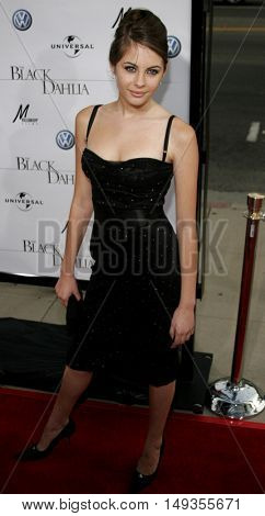 Willa Holland at the Los Angeles premiere of 'The Black Dahlia' held at the Academy of Motion Picture Arts and Sciences in Beverly Hills, USA on September 6, 2006.