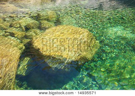 Great Rock Inside Water