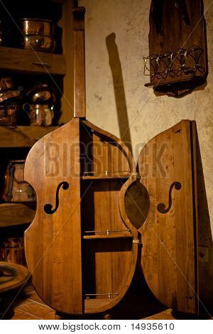 Antique Wooden Cabinet Bass
