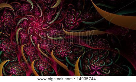 abstract fractal background a computer-generated 2D illustration, spiral
