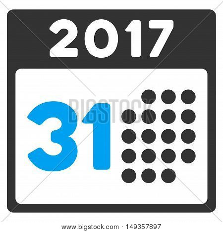 Last 2017 Month Day icon. Vector style is flat iconic symbol on a white background.