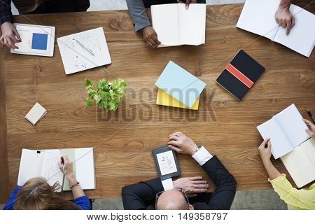 Business People Meeting Brainstorming Sharing Concept