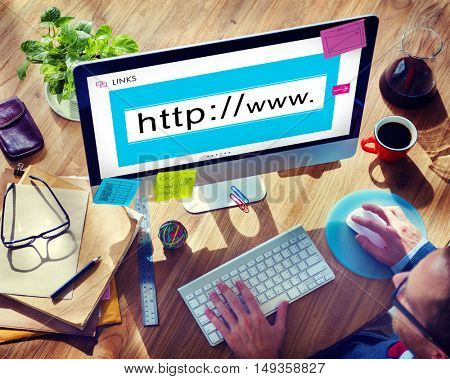Website Domain Internet HTTP WWW Graphic Concept