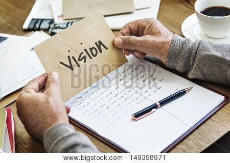 Vision Mission Work Business Concept