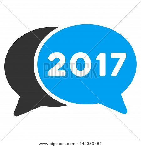 2017 Chat icon. Glyph style is flat iconic symbol on a white background.