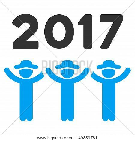 2017 Guys Dance icon. Glyph style is flat iconic symbol on a white background.