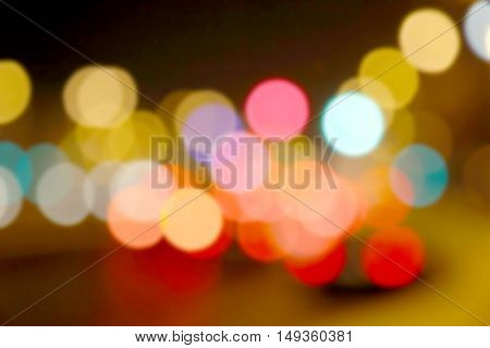 Defocused bokeh lights, abstract colorful blur background