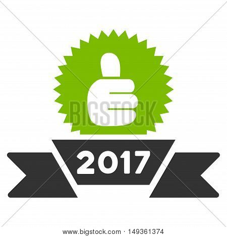 2017 Choice Award icon. Vector style is flat iconic symbol on a white background.