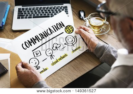 Communication Connection Network Share Concept