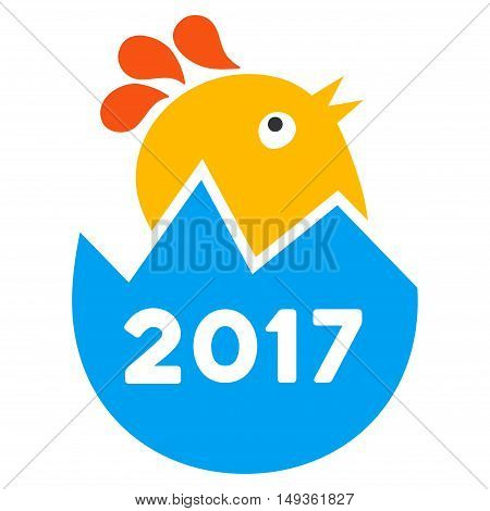 2017 Hatch Chick icon. Vector style is flat iconic symbol on a white background.