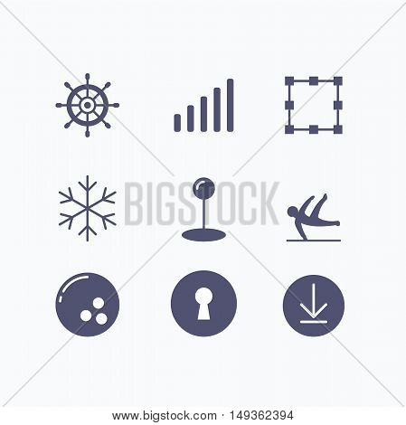 Business simple icon design, icon set vector
